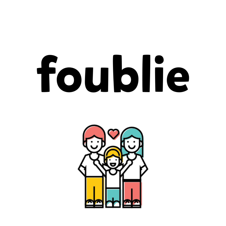 foublie logo and family