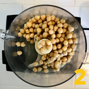 chick peas in food processor