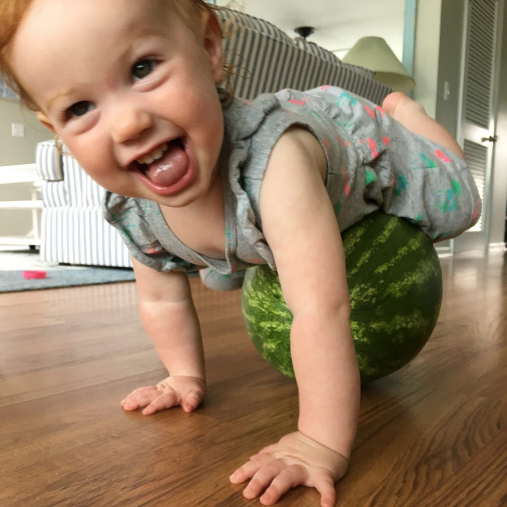 watermelon and baby